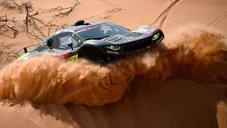 Driver Brian Baragwanath of South Africa and co-driver Taye Perry compete during the 6th Stage of the Dakar Rally 2021. Photo: Frank Fife/AFP