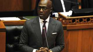 Minister of Finance Malusi Gigaba making a 2018 budget speech in Parliament. Picture:Phando Jikelo/African News Agency/ANA