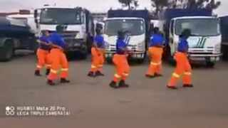An all female cleaning crew from Durban Solid Waste is the latest to join the world-wide craze of the Jerusalema Dance Challenge. Picture: Screengrab.