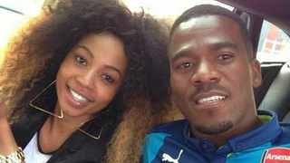 Kelly Khumalo with Senzo Meyiwa. Picture: Instagram