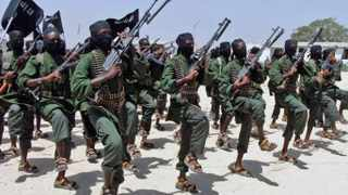 Hundreds of newly trained al-Shabaab fighters perform military exercises. AP Photo/Farah Abdi Warsameh-FILE