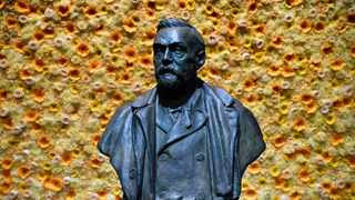 A bust of the Nobel Prize founder, Alfred Nobel on display at the Concert Hall in Stockholm. Picture: Henrik Montgomery/Pool Photo via AP