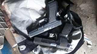 The SAPS confiscated firearms on Wednesday from suspects believed to be involved in robberies. Photo: SAPS