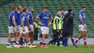 Italy was awarded a a 28-0 victory following the cancellation of their match against Fiji. Photo: EPA/Brian Lawless