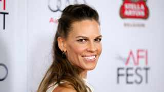 Actress Hilary Swank poses at the gala screening of 'The Homesman' during AFI Fest 2014 in Hollywood, California. Picture: Reuters/Danny Moloshok