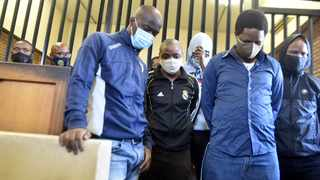 The five men accused of being behind Senzo Meyiwa's murder. Picture: Itumeleng English/African News agency (ANA)