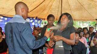 In Limpopo a 24-year-old self-styled prophet is spraying, in the name of Jesus Christ, insect-killing Doom in the eyes of congregants.
