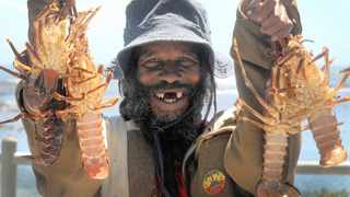 Moegamat Pather with West Coast rock lobster. File photo: ANA/Neil Baynes