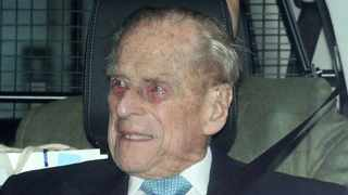 Britain's Prince Philip leaves the King Edward VII's Hospital in London. Picture: Reuters
