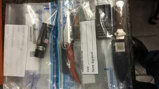 The items that were seized by police. Picture: SAPS