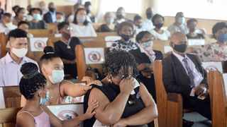 The funeral service of Martha Marais at the Anglican church in Eersterust before she was laid to rest at Eersterust cemetery. Picture: Oupa Mokoena African News Agency (ANA)