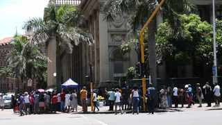 Residents standing in a queue outside the Post Office in the Durban CBD Picture: Doctor Ngcobo/African News Agency(ANA)