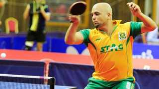 Veteran multiple South African Table Tennis champion Shane Overmeyer in action. Photo: IOL