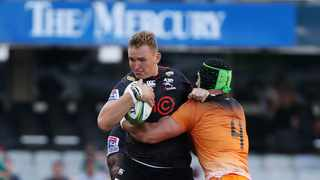 JJ van der Mescht has had a fair amount of game time this season, even starting against the Pumas on the flank when the Sharks were heavily hit by Covid. Photo: Muzi Ntombela/BackpagePix