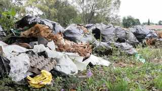 An illegal dumping site next to Rabie Street in Centurion. Picture: Jacques Naude/African News Agency (ANA)