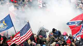 Pro-Trump supporters stormed the US Capitol earlier this month. Picture: Reuters