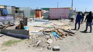 A dance teacher's shack has been demolished by the residents of Lotus Informal Settlement in Gugulethu, after the teacher was accused of raping young girls who are his students. Picture: Phando Jikelo/African News Agency (ANA)