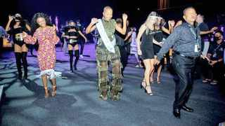 Miss SA Shudufhadzo Musida wows guests with her Jerusalema dance moves at Sun International Black Pearl Roulette Tournament. Picture: Supplied