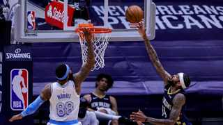 New Orleans Pelicans forward Brandon Ingram (14) shoots a lay up against Los Angeles Lakers forward Markieff Morris (88) during the first half at Smoothie King Center. Mandatory Credit: Stephen Lew/USA TODAY Sports via Reuters