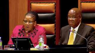 Parliamentary Speaker Thandi Modise and National Council of Provinces chairperson Amos Masondo have spoken out against the looting of the Covid-19 funds. Picture: Screengrab