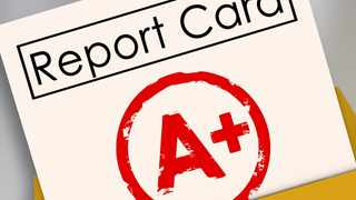 Parents, read your child's report card and respond to grades, both good and bad.