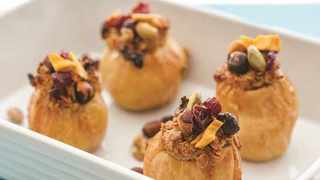 Oats stuffed apples. Picture: Supplied