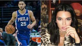 Ben Simmons and Kendall Jenner. Photo: Instagram