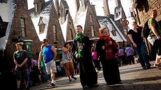 In the Wizarding World of Harry Potter theme park in Orlando, visitors can explore the village of Hogsmeade. Picture: Universal Orlando Resort