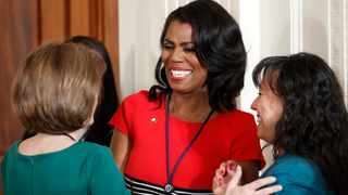 Omarosa Manigault, then-director of communications for the White House Office of Public Liaison, centre, speaks in the East Room of the White House in Washington. File picture: Pablo Martinez Monsivais/AP