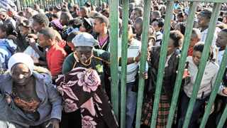 A stampede broke out at the University of Johannesburg's Auckland Park Campus in 2011 after hundreds of people stormed onto the campus in the hope of securing a place at the university. One person died during the stampede. File photo: Adrian de Kock
