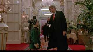 The US President makes a cameo appearance in the 1992 film when he directs Macaulay's Kevin McAllister to the Plaza Hotel lobby. Picture: YouTube.com