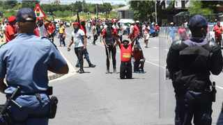 Police used stun grenades and tear gas as well as rubber bullets in trying to disperse EFF members who were marching to the Brackenfell High School in November last year. File picture: Phando Jikelo/African News Agency (ANA)