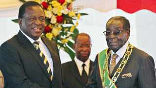 President Robert Mugabe, right, with his successor Emmerson Mnangagwa. File picture: Reuters