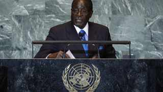 Zimbabwean President Robert Mugabe addresses the 66th United Nations General Assembly at the UN headquarters, in New York.