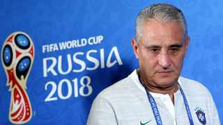 Brazil's head coach Tite attends a press conference at the Kazan Arena stadium in Kazan on Thursday. Photo: Robert Ghement/EPA