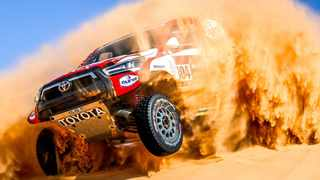 South Africa's Giniel de Villiers stole the show as he claimed his 17th career stage win on Day 6 of the Dakar Rally. Photo: Toyota