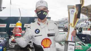 Sheldon van der Linde described his first German Touring Car win as a dream come true. Picture: Daniel Reinhard via BMW.