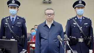 Lai Xiaomin, the former chairman of one of China's largest state-controlled asset management firms, was sentenced to death for soliciting bribes as well as bigamy. Picture: Handout / Second Intermediate People's Court of Tianjin/AFP
