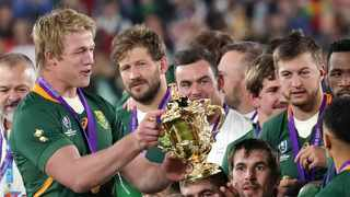At the online launch of the documentary Chasing the Sun on Wednesday, Pieter-Steph Du Toit – the current World Player of the Year – recalled one of the key moments in the final that set the Boks on the path to glory. Photo: Eugene Hoshiko/AP.
