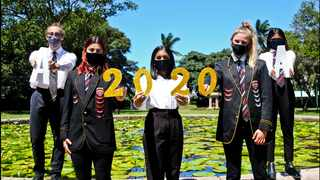 The top KZN 2020 matric achievers from Crawford La Lucia and Crawford North Coast are Adrian McIntosh, Zenya Naicker, Zahra Atkinson, Amera Naicker and Laura Koen. Picture: Doctor Ngcobo/African News Agency (ANA)