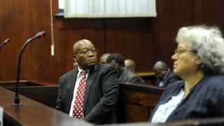 FORMER president Jacob Zuma at the Durban High Court where he is facing charges of corruption, Zuma appeared alongside Christine Guerrier, vice-president of litigation at French arms company Thales. Picture: Felix Dlangamandla Pool via Reuters