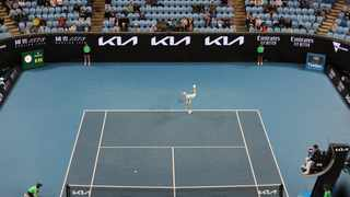 There are no line judges at Melbourne Park for the Australian Open, while the crowd capacity has been capped at 30 000 because of Covid-19. Picture: Asanka Brendon Ratnayake/Reuters