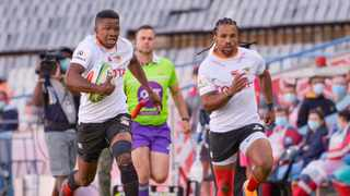 The Cheetahs' wings are on fire. Malcolm Jaer and Rosko Specman have scored three tries apiece in their two games, collecting six of the nine tries scored by the Bloemfontein-based team. Photo: Steve Haag/Gallo via BackpagePix