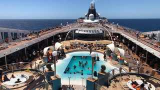 The top deck of the MSC Orchestra is the place to be if one wants to sun, fun and pool. Picture: Lee Rondganger
