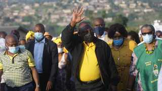 ANC president Cyril Ramaphosa in Hammarsdale. Picture: Bongani Mbatha/African News Agency (ANA)