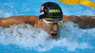 Chad Le Clos during day two of the first 2021 SA National Aquatic Championships at Newton Park Swimming Pool in Gqeberha on Wednesday. Photo: Deryck Foster/BackpagePix