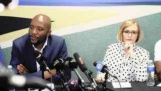 Former DA leader Mmusi Maimane and the party's federal council chairperson Helen Zille. Picture: Simphiwe Mbokazi/African News Agency (ANA)