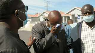 An executive member of the Cape Amalgamated Taxi Association (Cata), Japan Roro, broke down as he told Transport MEC Bonginkosi Madikizela that he was quitting the taxi industry after the murder of the leader of the association, Victor Wiwi. Picture: Tracey Adams/African News Agency (ANA).