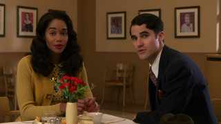 """Laura Harrier as Camille Washington and Darren Criss as Raymond Ainsley In """"Hollywood"""". Picture: Netflix"""