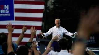 Democratice presidential nominee Joe Biden speaks Tuesday in Atlanta, where he said he would heal and unite the nation if elected. Picture: Washington Post photo by Demetrius Freeman